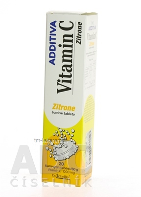 ADDITIVA VITAMÍN C 1000 mg Zitrone tbl eff 1x20 ks